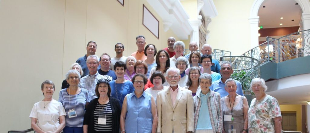 A group of JHU retirees or prospective retirees